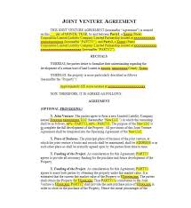 sample joint venture agreements sample of development agreement
