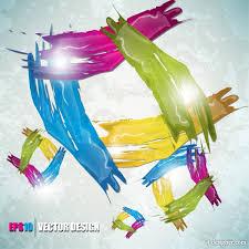 4 designer color paint splatter background 02 vector material