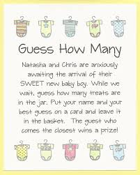 baby shower guessing guess how many candies baby shower guess how many kisses