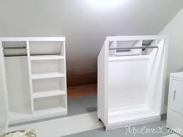 Slanted Wall Bedroom Closet Closet Laundry Room Makeover My Love 2 Create