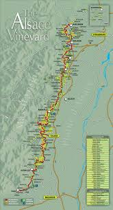 Map Of Northern France by Map Of The Alsace Wine Route And The Cycle Route