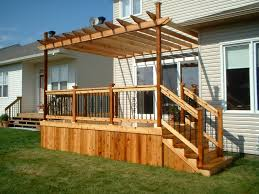Decorating Decks And Patios Modest Decoration Deck Pergola Exciting Deck With Pergolas