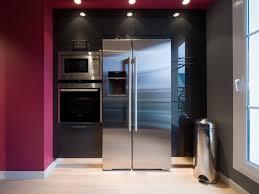 cuisine frigo americain meuble pour refrigerateur encastrable 3 meuble frigo americain
