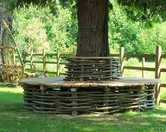 we plan to build a bench around our hickory tree as an additional