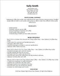 coffee shop worker cover letter