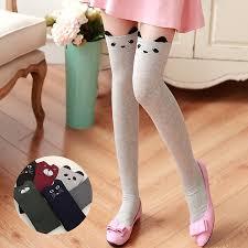 cute stockings fashion cartoon thigh high stockings women warm cat girl cute socks
