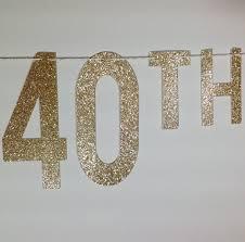 happy birthday banner gold glitter happy 40th birthday