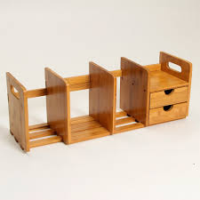 Designer Desk Organizer by Amazon Com Natural Bamboo Desk Organizer With Extendable Storage