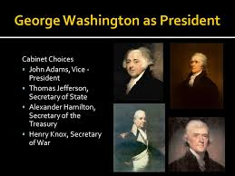 George Washingtons Cabinet The New Nation Ppt Video Online Download