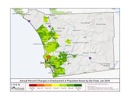 Zip Code Map San Jose by Job Growth In Southern California Almost Uniform Isea