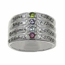 stackable mothers rings with names mothers and family rings gordon s jewelers