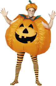 amazon halloween smiffy u0027s men u0027s pumpkin costume inflatable with built in fan
