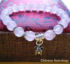 rose stone bracelet images Rose quartz natural stone bracelet with 925 silver pig pendant jpg