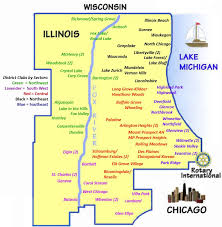 Chicago District Map by Home Page Rotary District 6440