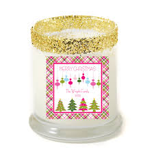personalized candle a pink christmas personalized candle premier personalized candles