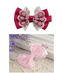 baby girl hair accessories big bow hair clip with lace mix combo momiffy