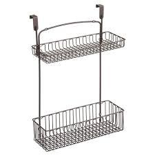 kitchen cabinet storage target mdesign cabinet kitchen storage organizer holder hanging basket bronze