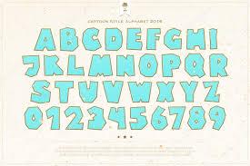schrift design stil alphabet buchstaben und zahlen über