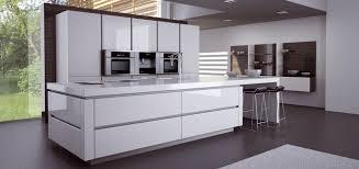 cuisine parall鑞e cuisine blanc laque avec ilot