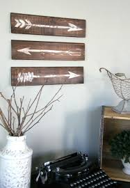 Rustic Wall Decor Rustic Painted Arrows Monthly Diy Challenge Rustic Wall Art