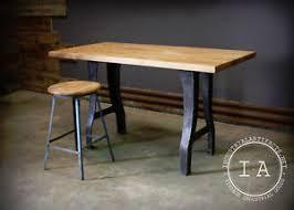 kitchen island butcher block table industrial cast iron machine base maple butcher block table desk