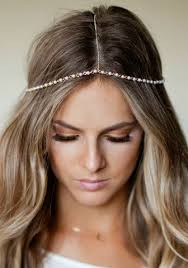 chain headband chain headpiece pearl and gold chain headdress lovmely