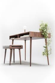 Modern Bureau Desks by Modern Walnut Desk With Open Cubbies Mid Century Design