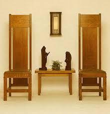 High Backed Armchairs Frank Lloyd Wright