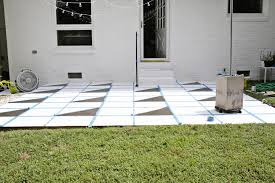 Painting A Cement Patio by Painted Patio Tile Diy U2013 A Beautiful Mess