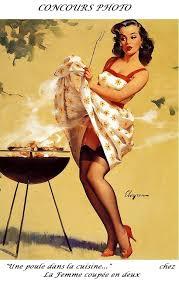 femme dans la cuisine concours photo une poule dans la cuisine la femme coupée en deux