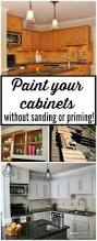 Can You Refinish Kitchen Cabinets How To Paint Kitchen Cabinets No Painting Sanding Tutorials