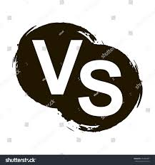 versus letters vs logo isolated on stock vector 454380487