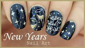 happy new year nail art youtube