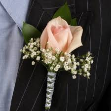 white boutonniere light pink and white boutonniere and corsage wedding package