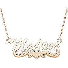 14kt gold name necklace cheap name necklace in gold find name necklace in gold deals on