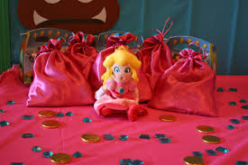 princess candy bags mario birthday party featuring princess chica and jo