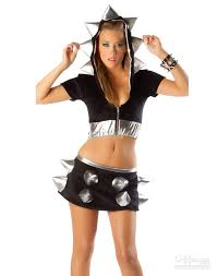 Sexu Halloween Costumes Halloween Costumes Women Foamy Spiked Jacket