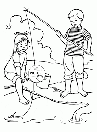 the beat time for fishing coloring page for kids summer coloring