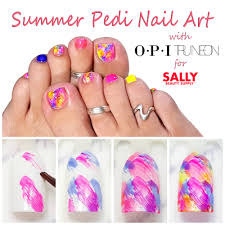 the perfect pedicure easy toe nail art with sally beauty supply