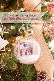 diy memory keepsake snow globe ornaments the crafting
