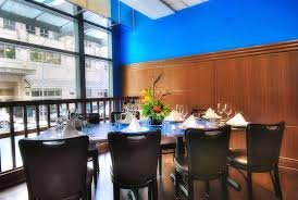 private dining room hospitality interior design of bluacre seafood