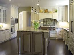 Rustic Wood Kitchen Island by Two Pieces Wrought Iron Bar Stools White Kitchens Dark Floors