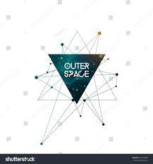 outer space scientific design template copy imagem vetorial de