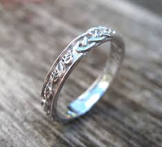 celtic wedding ring celtic wedding band with leafs wedding ring wedding