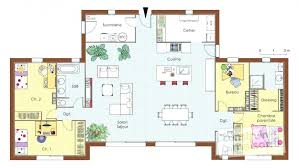 plan maison 4 chambres plain pied gratuit plan de maison de plain pied plan maison plain pied gratuit toit