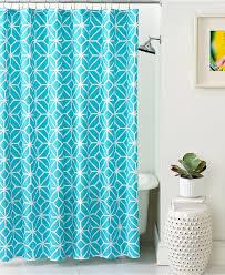 bathroom ogee ikat shower curtain for bathroom decoration ideas blue trellis ikat shower curtain with bathtub and silver rain shower for bathroom decoration ideas