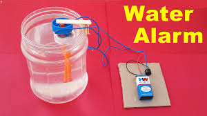 how to make a simple water level indicator alarm at home youtube