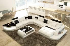 canape panoramique design deco in canape d angle design panoramique blanc et noir