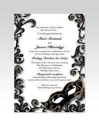 masquerade wedding invitations gorgeous black and white invitations for a masquerade wedding