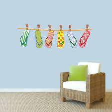 wall decals stickers home decor home furniture diy hanging flip flops printed wall decals wall stickers